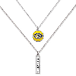 Missouri Tigers Double Down Necklace