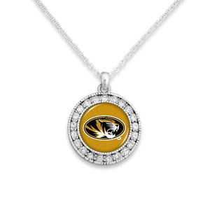 Missouri Tigers Kenzie Round Crystal Charm Necklace