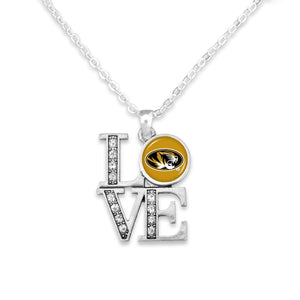Missouri Tigers LOVE Necklace