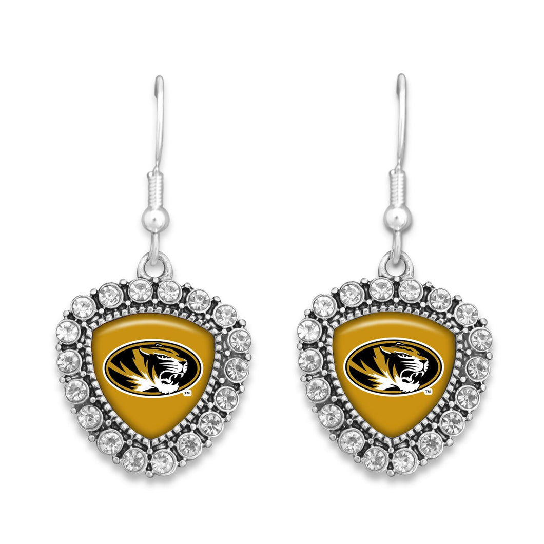 Missouri Tigers Brooke Crystal Earrings
