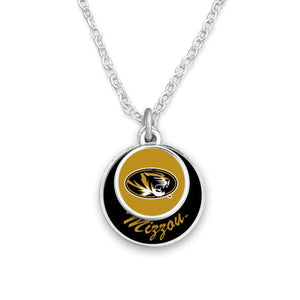 Missouri Tigers Stacked Disk Necklace