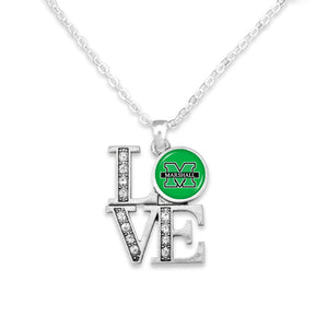 Marshall Thundering Herd LOVE Necklace