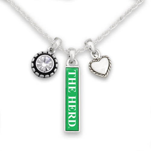 Marshall Thundering Herd Triple Charm Necklace