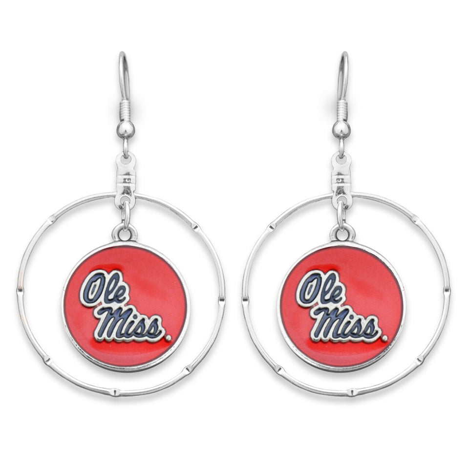 Ole Miss Rebels Campus Chic Earrings