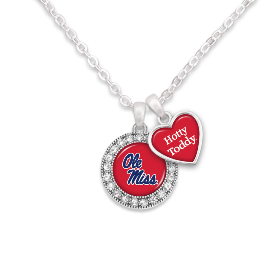 Ole Miss Rebels Spirit Slogan Necklace