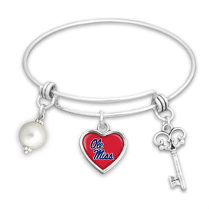 Ole Miss Rebels Pearl Bracelet