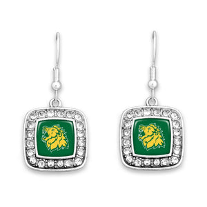 Missouri Southern State Lions Square Crystal Charm Kassi Earrings