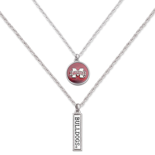 Mississippi State Bulldogs Double Down Necklace