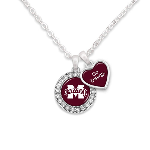 Mississippi State Bulldogs Spirit Slogan Necklace