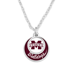 Mississippi State Bulldogs Stacked Disk Necklace