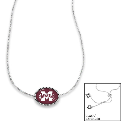 Mississippi State Bulldogs Adjustable Slider Bead Necklace