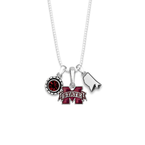 Mississippi State Bulldogs Home Sweet School Necklace