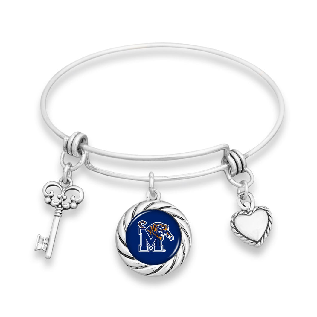Memphis Tigers Twisted Rope Bracelet