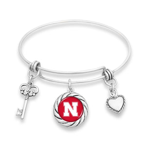 Nebraska Cornhuskers Twisted Rope Bracelet