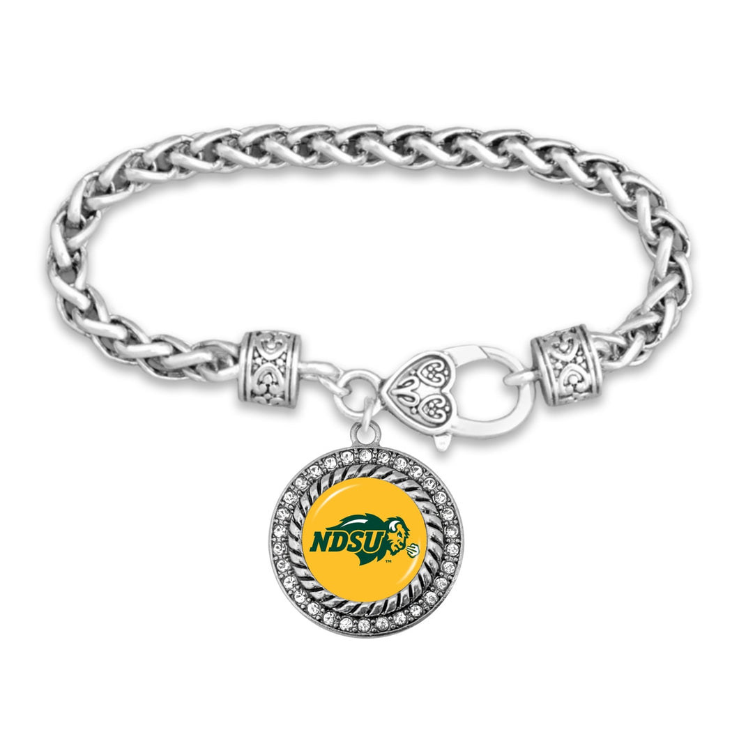 North Dakota State Bison Bracelet- Allie