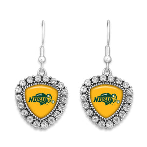 North Dakota State Bison Brooke Crystal Earrings