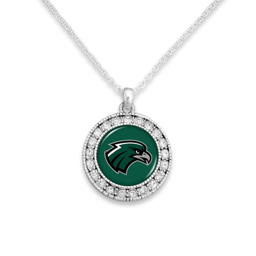Northeastern State Riverhawks Kenzie Round Crystal Charm Necklace