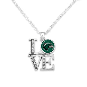 Northeastern State Riverhawks LOVE Necklace