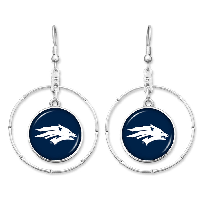 Nevada Wolf Pack Campus Chic Earrings