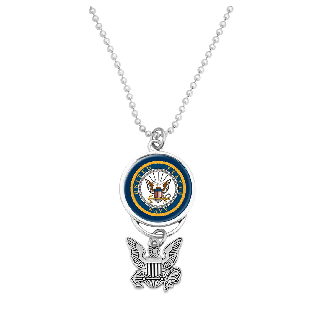 U.S. Navy Seal Car Charm with Silver Logo