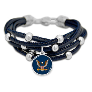 U.S. Navy Lindy Leather Bracelet