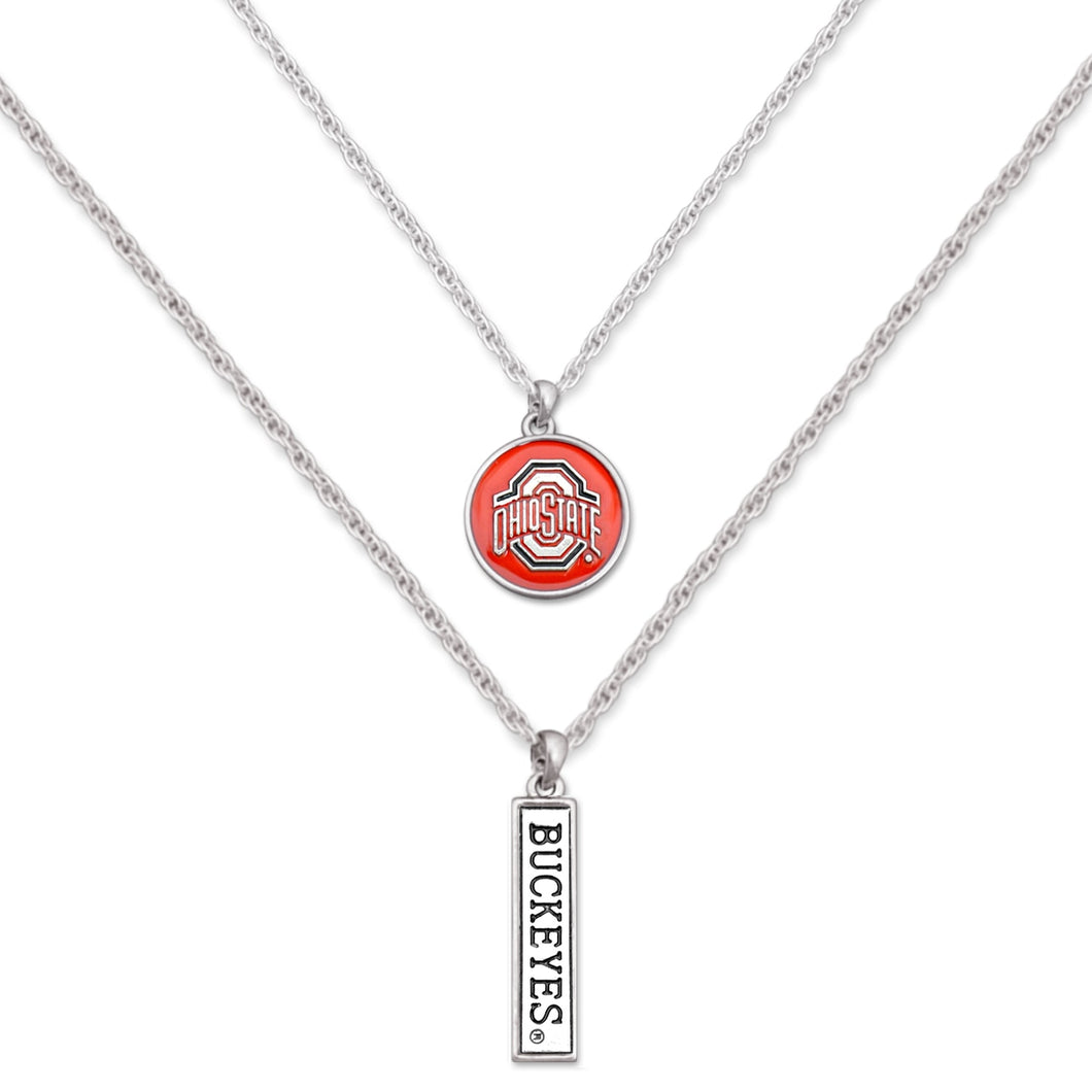 Ohio State Buckeyes Double Down Necklace
