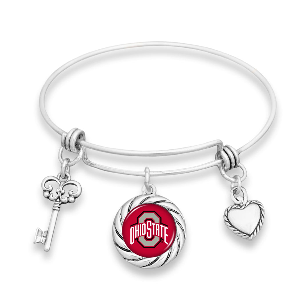 Ohio State Buckeyes Twisted Rope Bracelet