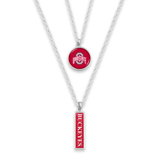 Ohio State Buckeyes Double Layer Necklace