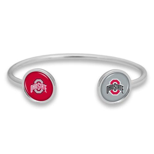 Ohio State Buckeyes Duo Dome Cuff Bracelet