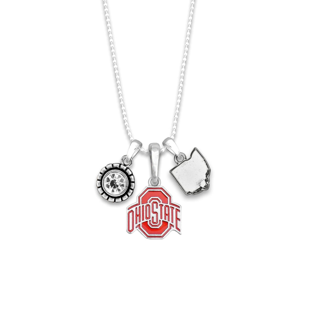 Ohio State Buckeyes Home Sweet School Necklace