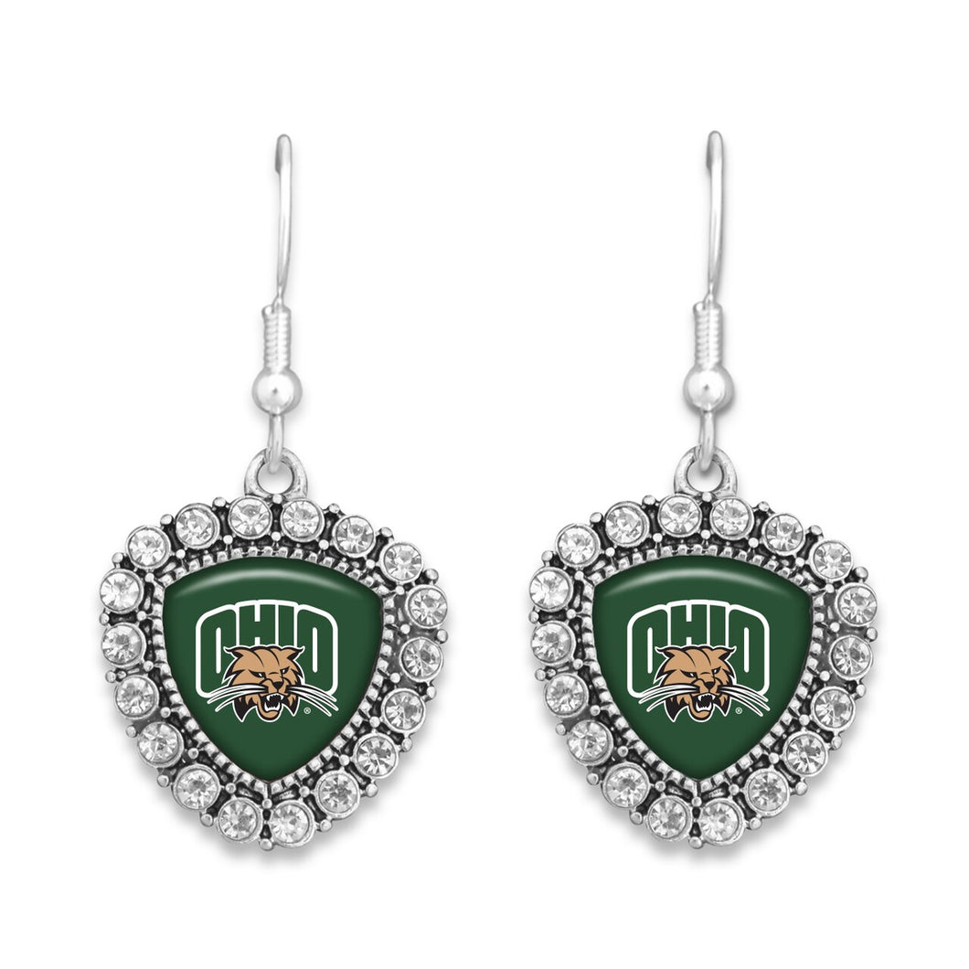 Ohio Bobcats Brooke Crystal Earrings