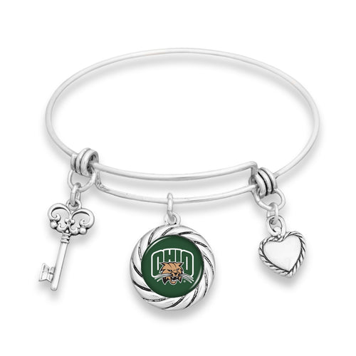 Ohio Bobcats Twisted Rope Bracelet
