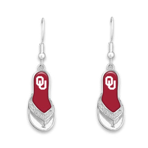 Oklahoma Sooners Flip Flop Earrings