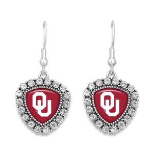 Oklahoma Sooners Brooke Crystal Earrings