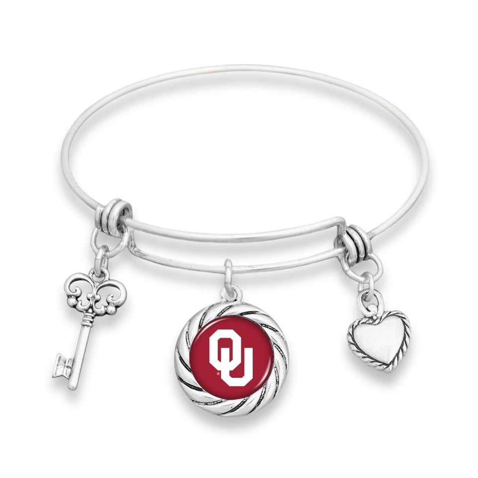 Oklahoma Sooners Twisted Rope Bracelet
