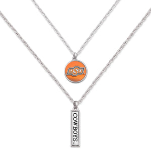 Oklahoma State Cowboys Double Down Necklace