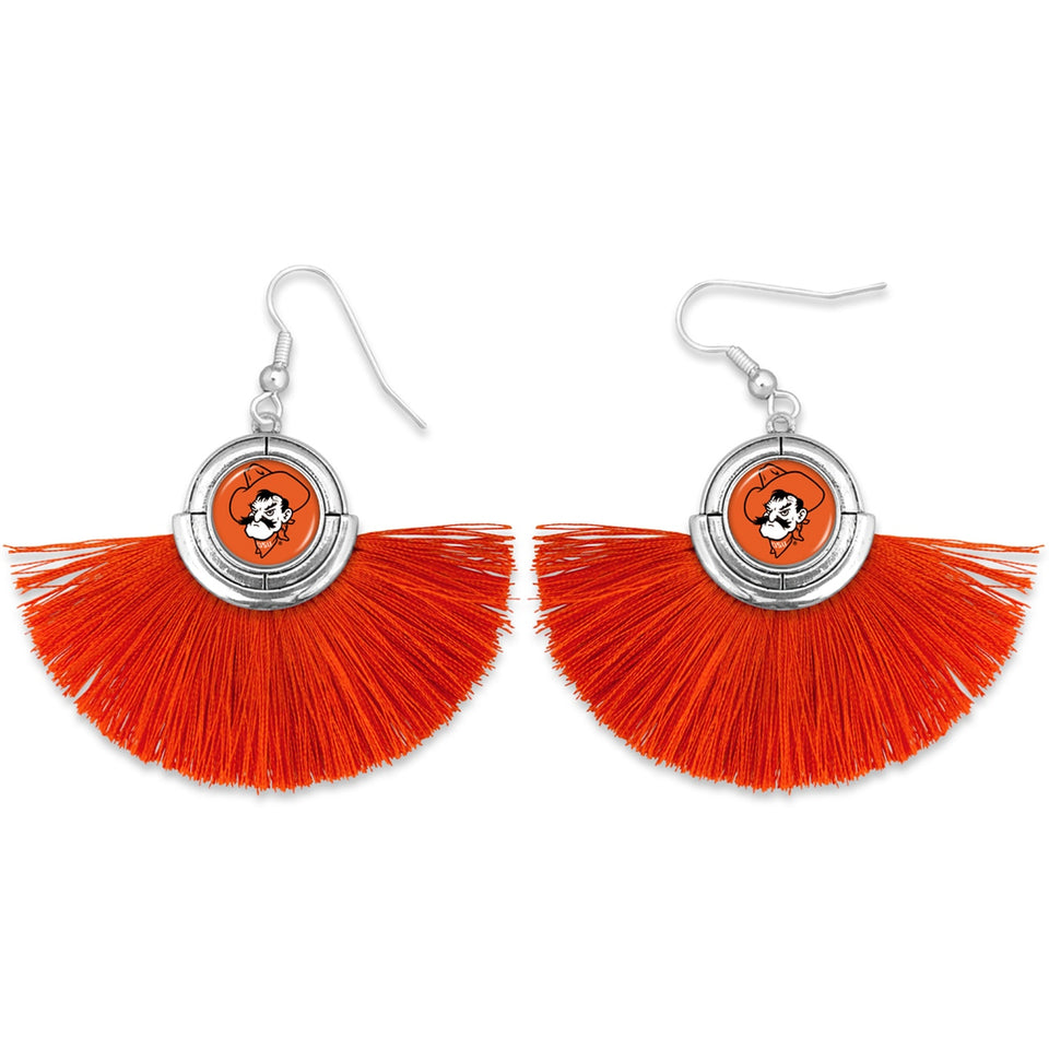 Oklahoma State Cowboys Tassel Earrings