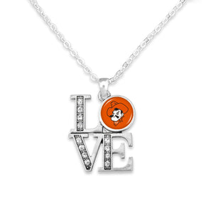 Oklahoma State Cowboys LOVE Necklace