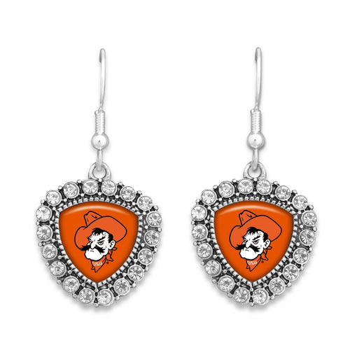 Oklahoma State Cowboys Brooke Crystal Earrings