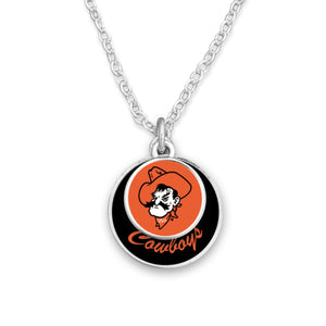 Oklahoma State Cowboys Stacked Disk Necklace