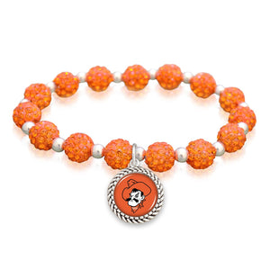 Oklahoma State Cowboys Team Color Sparkle Stretchy Bracelet