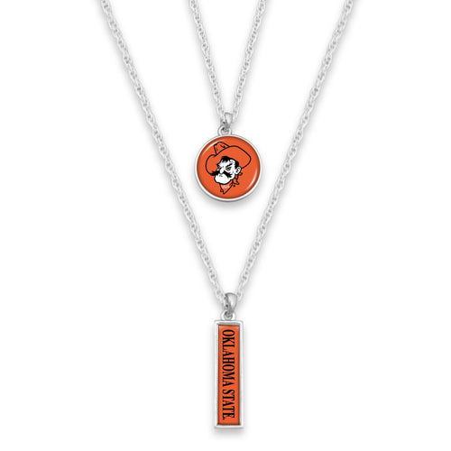 Oklahoma State Cowboys Double Layer Necklace
