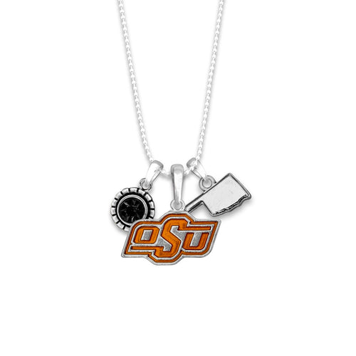 Oklahoma State Cowboys Home Sweet School Necklace