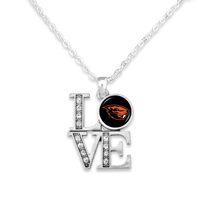 Oregon State Beavers LOVE Necklace