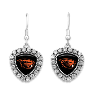 Oregon State Beavers Brooke Crystal Earrings
