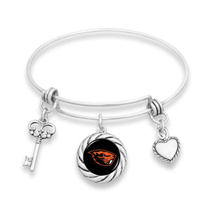 Oregon State Beavers Twisted Rope Bracelet