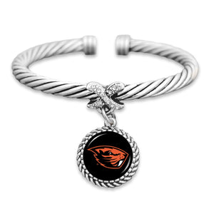 Oregon State Beavers Bangle Cuff Bracelet