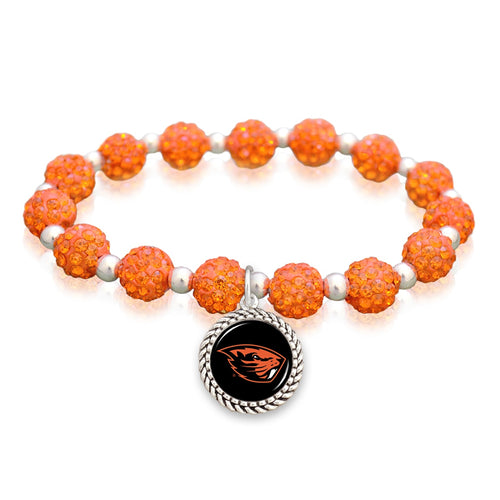 Oregon State Beavers Team Color Sparkle Stretchy Bracelet