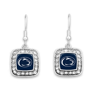 Penn State Nittany Lions Square Crystal Charm Kassi Earrings