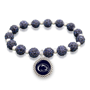 Penn State Nittany Lions Team Color Sparkle Stretchy Bracelet